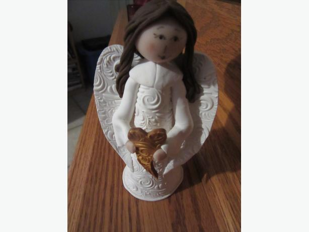 Hand sculpted Angel Ornament by PEI artist Roberta Originals