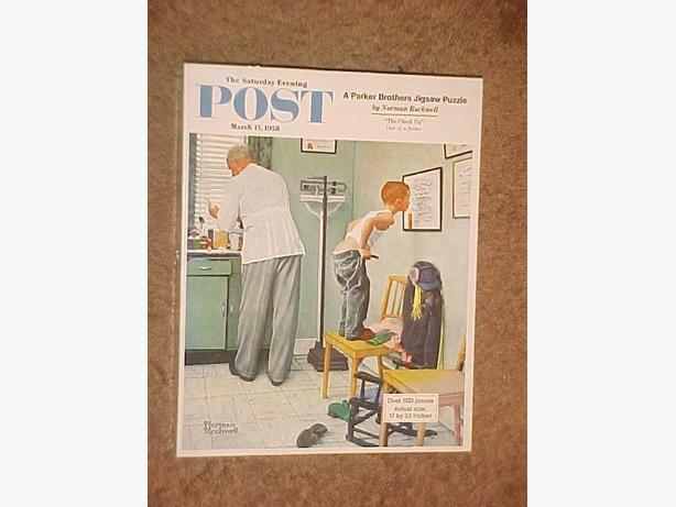 NORMAN ROCKWELL THE CHECKUP JIGSAW PUZZLE