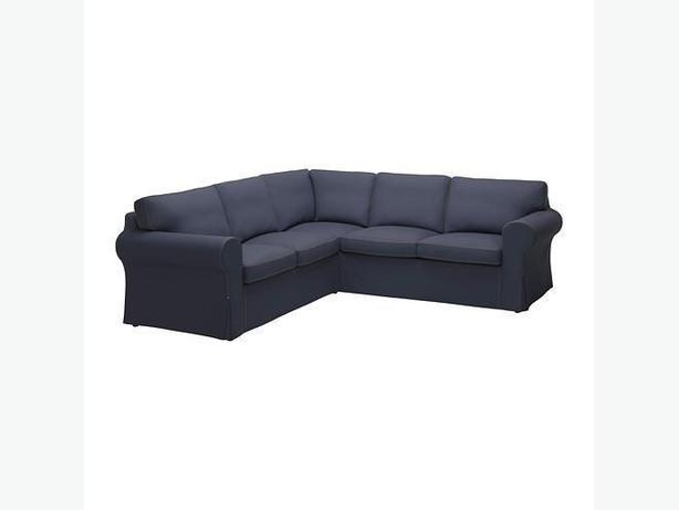 Ikea EKTORP 2+2 Corner Sofa Cover - Jonsboda Blue (Cover Only)
