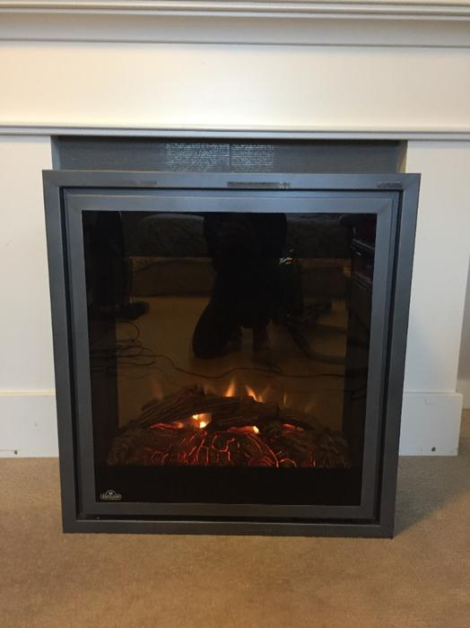 Electric Fireplace With Mantle West Shore Langford Colwood Metchosin Highlands Victoria