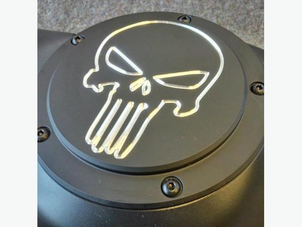 Harley Davidson Custom Derby Covers - Skull Contrast
