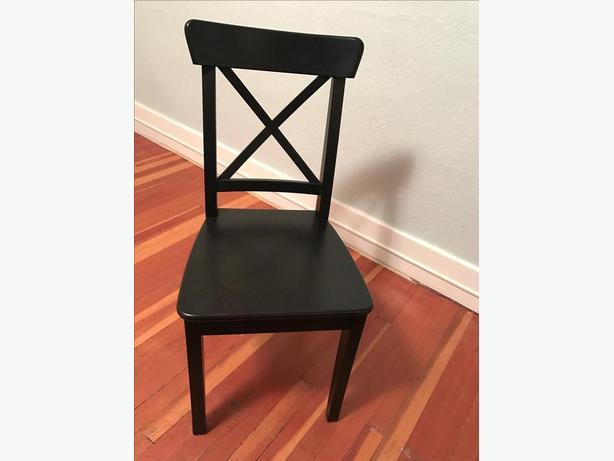 4 dining chairs ikea ingolf oak bay victoria - Oak dining chairs ikea ...