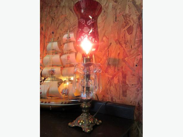 FOUR MANTEL LIGHTS FROM ESTATE