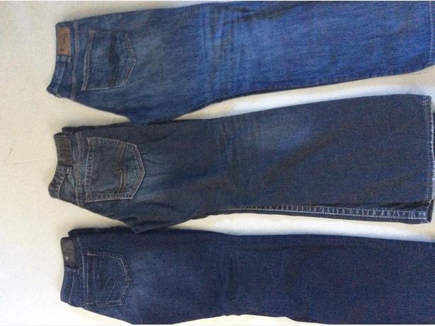Ladies Silver Jeans