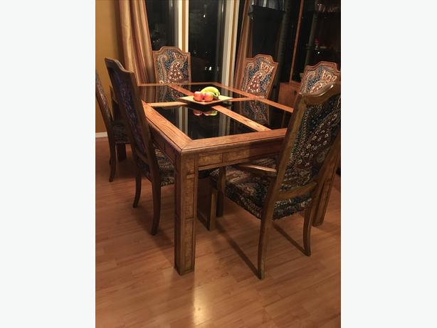 hutch table chairs dining room west shore langford