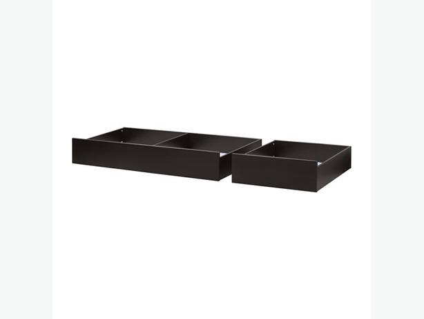 WANTED IKEA HEMNES Under bed Storage Box DRAWERS Black Brown for Queen Bed Victoria City