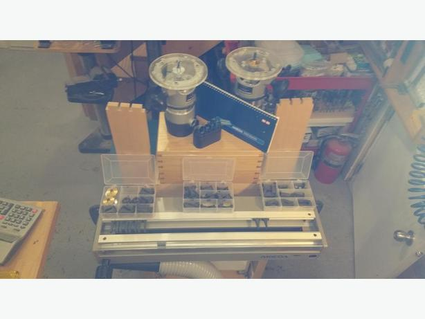"""AKEDA 24"""" DOVETAIL JIG W/ PORTER-CABLE ROUTERS X 2"""