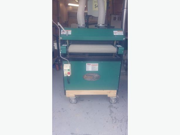 "GRIZZLY 5HP 24"" DUAL DRUM SANDER"