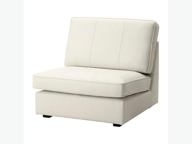 Ikea KIVIK Sofa One-Seat Section - Grann White Leather