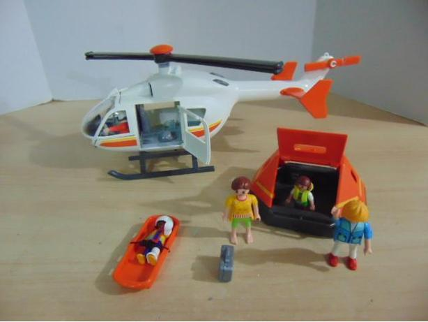 Playmobil Helicopter Sea Boat Recycle Garbage And Security