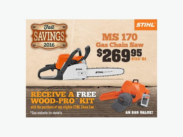 Stihl WoodPro Sale! MS170 16' Chain On SALE for $269.95