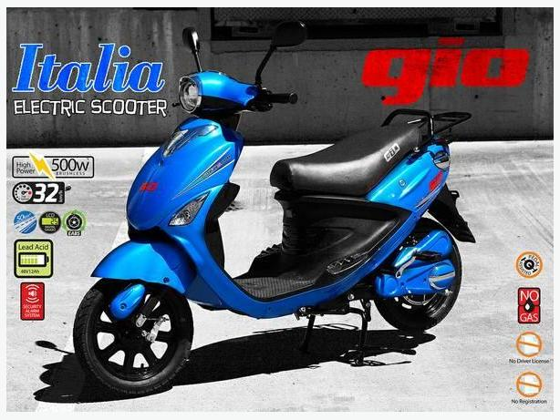 All new GIO Italia (MK) Electric Scooter available at B.C. SCOOTERS.