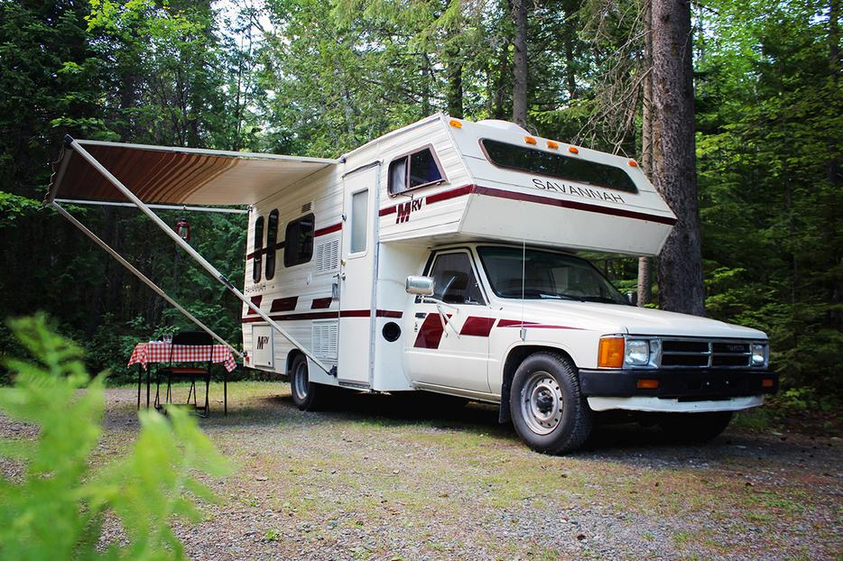 Small toyota motorhome roadtrip ready west vancouver for Used small motor homes