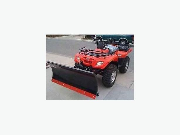 "48"" snow plows for atvs with all hardware etc including kevlar edge."