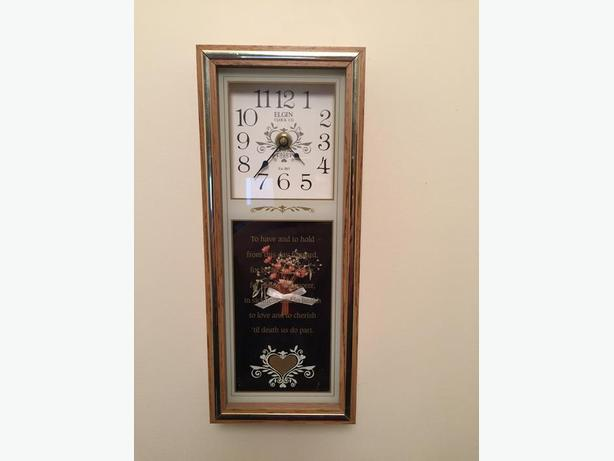 Decorative Wedding Vow Wall Clock