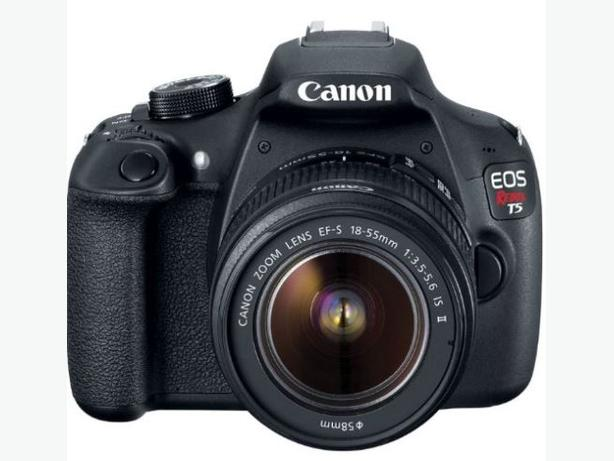 Canon T5 DSLR Camera, two lenses and acessories