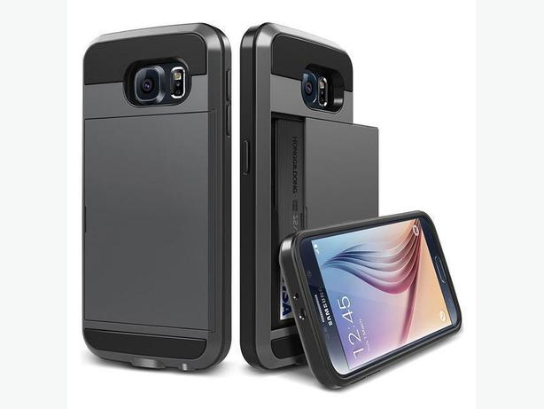 Slide Wallet Credit Card Slot Phone Case For Samsung Galaxy S7