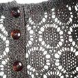 Chocolate Brown Crochet Tank Top / Sleeveless / Cami