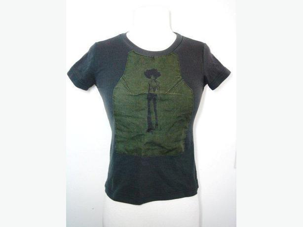 OPEN - Moss Green Short-Sleeve Top