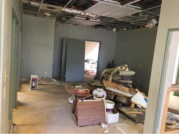 Demolition services for tile removal and ceiling tiles