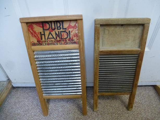 2 antique wash boards