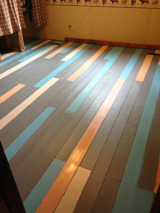 Painted Solid Wood Flooring Outside Victoria Victoria
