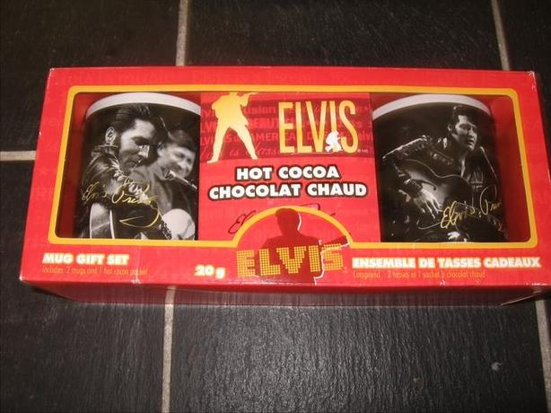 Elvis  Collectible Mugs with signature in gold on both mugs