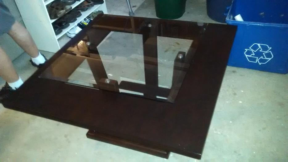 Raised Glass Top Coffee Table Surrey Incl White Rock Vancouver