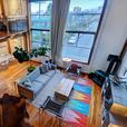Strathcona Furnished 1534sf 2 Level 2 Bed + Office 2 Bath Loft (211)