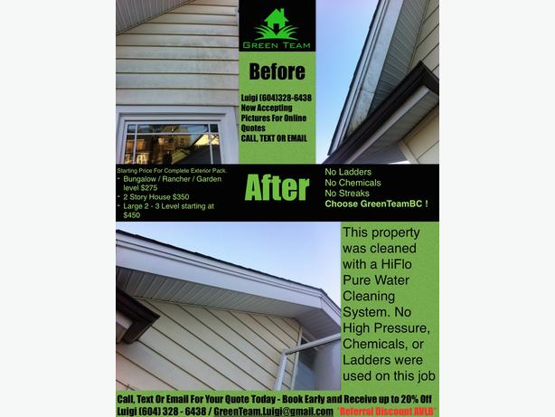 Pure Water Siding Cleaning