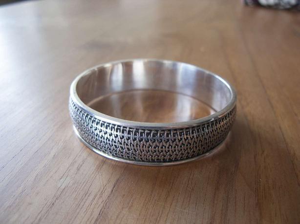 Sterling Silver Basket Weave Bracelet