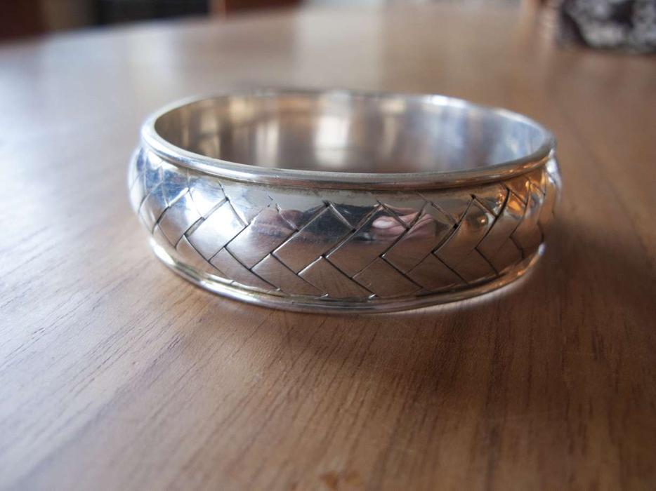 Basket Weaving Peterborough : Sterling silver basket weave bracelet victoria city