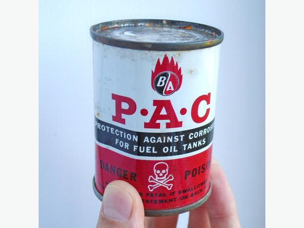 VINTAGE 1960's B/A P-A-C (4 Oz.) FULL CAN - BRITISH AMERICAN OIL