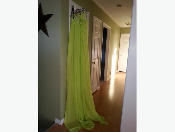 Lime Green Tab Sheer Panels