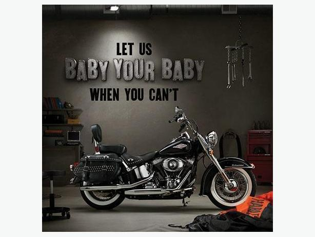 Secure indoor Harley Davidson storage with Tuff City Powersports