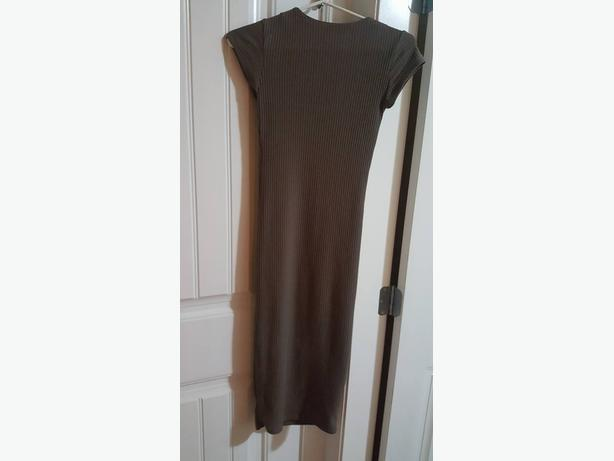 Small brown high neck classy dress