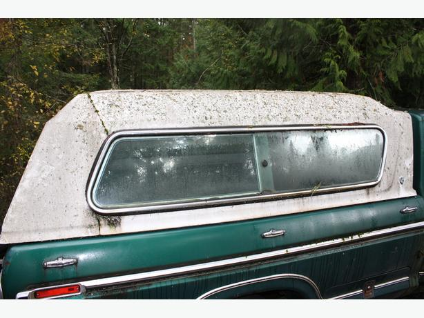 Original 1974-77 Ford Deluxe white Long Box canopy cover