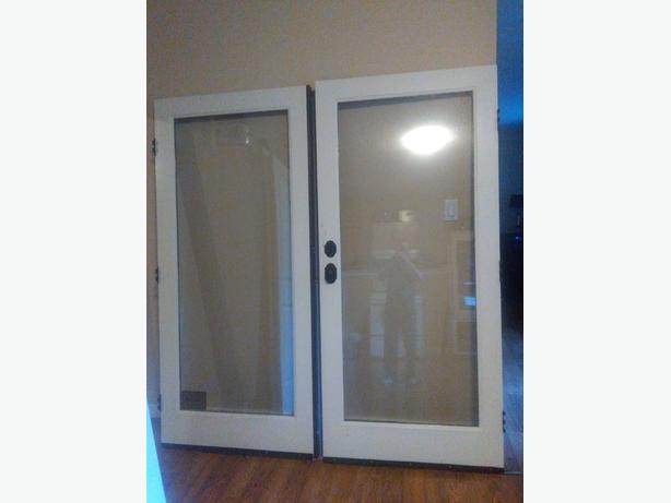 72 exterior full glass french door west shore langford for Full glass french doors