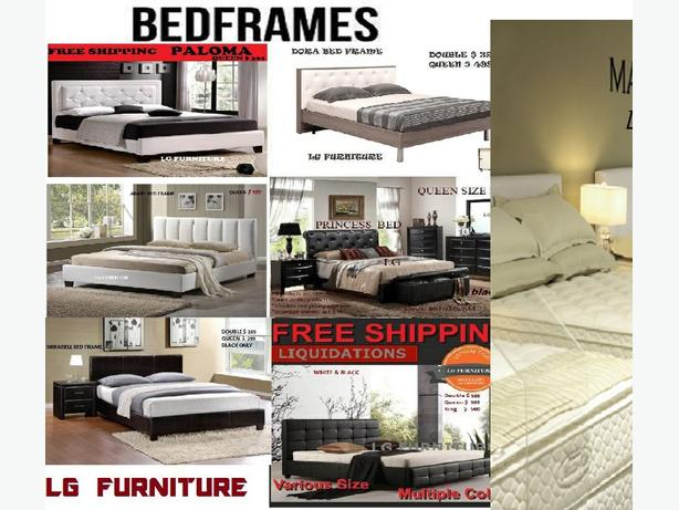 BED FRAME & CANADA MADE MATTRESSES ALL SIZE & STYLES BRAND N
