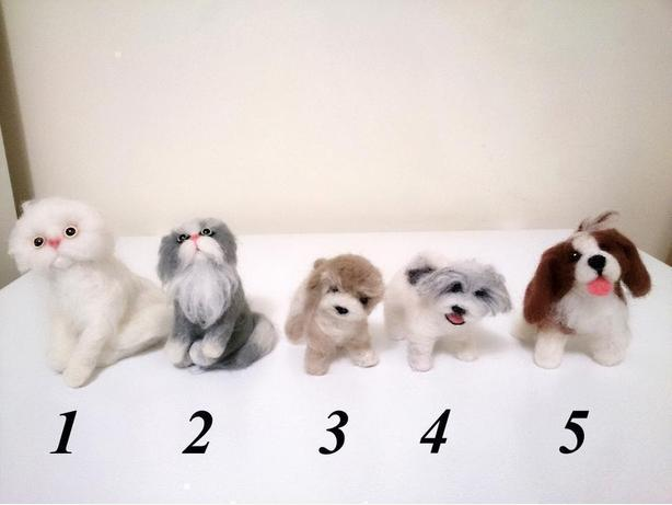 *NEW* Handmade Dogs & Cats Wool Felt Art