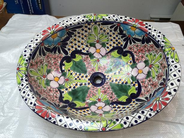 Hand Painted Sink from Mexico