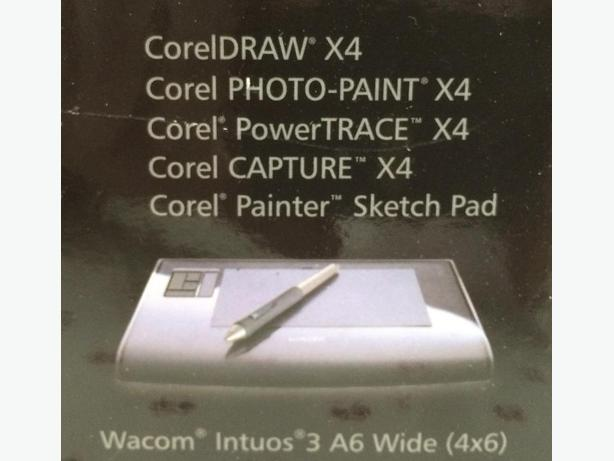 Corel Draw Anniversary Edition with Wacom Intuos A6 Wide Sketch Pad