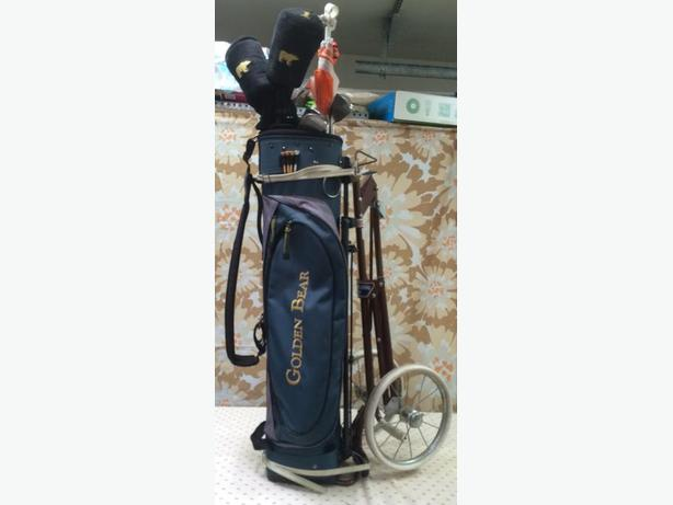 Jack Nicolaus Golden Bear Golf Club Set With Folding Cart
