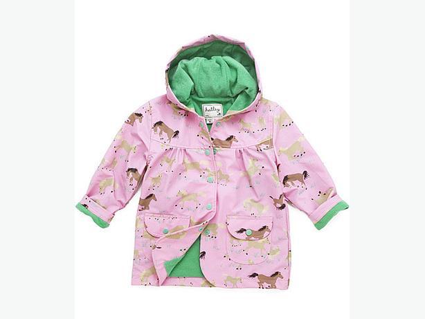 Girls Hatley rain coat size 7 and rainboots size 13