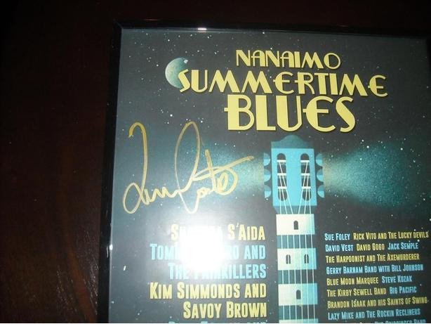 AUTOGRAPHED & FRAMED NANAIMO SUMMERTIME BLUES POSTER