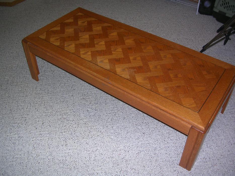 Wood coffee table west regina regina for Coffee tables regina