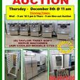 RESTAURANT FOOD EQUIPMENT AUCTION - DECEMBER 8th @ 11 am