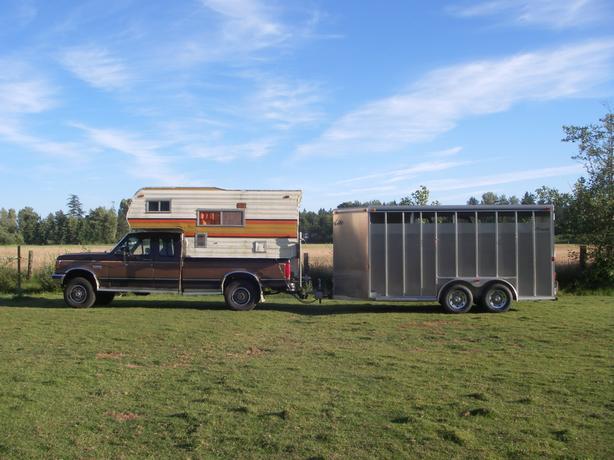 1991 F250 Lariat diesel w/camper $3,500. obo