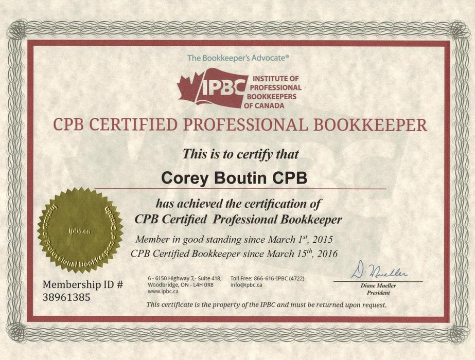 contract: part-time certified professional bookkeeper saanich, victoria
