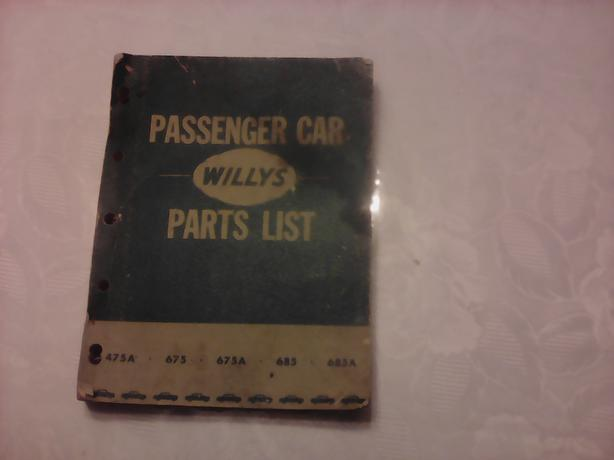 Willy's. Shop book